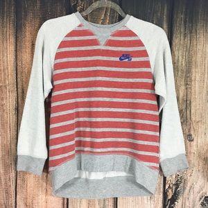 Nike SB Pullover 3/4 Sleeve Striped Sweater Medium